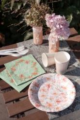 10 bicchieri in cartone Happy Day bianchi e rosa