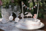 Decorazione per torte matrimonio rossa e bianca