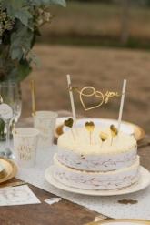 Decorazione per torta Just Married in cartone oro