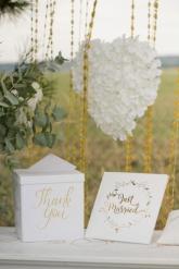 Libro per firme Just Married bianco e oro