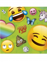 16 tovagliolini di carta Emoji Rainbow™