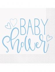 16 tovaglioli di carta baby shower blu