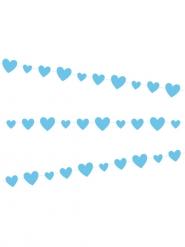 Ghirlanda in cartone di cuori blu