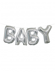 Ghirlanda di palloncini argento Baby