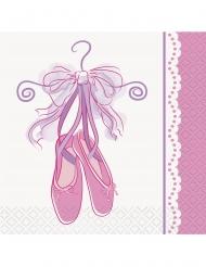 16 tovagliolini di carta tema ballerina