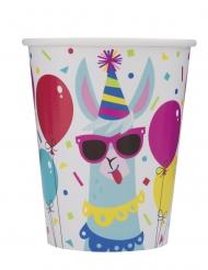 8 bicchieri in cartone lama multicolor