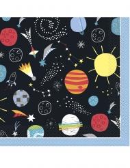 16 tovaglioli in carta universo