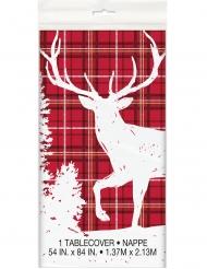 Tovaglia in plastica cervo bianco e rosso