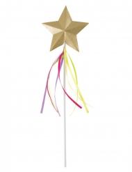 Bacchetta magica con stella e nastri arcobaleno