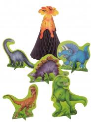 6 centrotavola dinosauri con vulcano