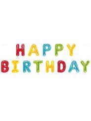Ghirlanda palloncini Happy Birthday multicolor