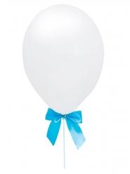 4 palloncini bianchi con fiocco blu