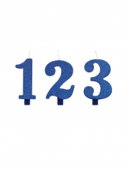 Candeline di compleanno numeri blu