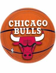 8 piattini in cartone Chicago Bulls™ 18 cm