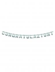 Ghirlanda in cartone Congratulazioni argento