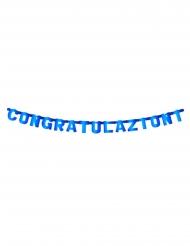 Ghirlanda in cartone Congratulazioni blu