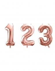 Palloncino alluminio oro rosa numero 85 cm