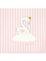 20 tovaglioli di carta cigno rosa