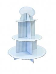 Alzatina in cartone per cupcakes blu e bianca