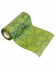 Mini runner da tavola verde con foglie tropicali