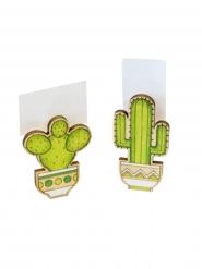 2 mollette in legno cactus