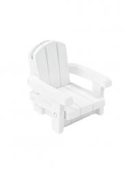 Segnaposto in resina sedia da spiaggia bianca