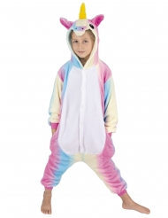 Costume tuta unicorno arcobaleno bambino