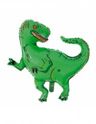 Palloncino in alluminio t-rex verde