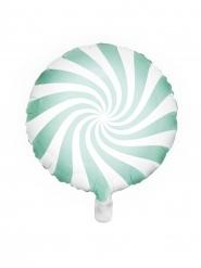 Palloncino alluminio lecca lecca color menta e bianco