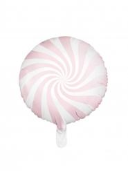 Palloncino alluminio lecca lecca rosa e bianco