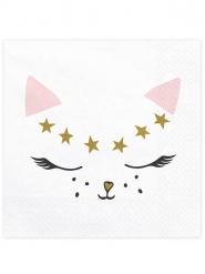 20 tovaglioli di carta gattini bianchi
