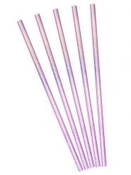 10 cannucce color iridescente effetto rosa