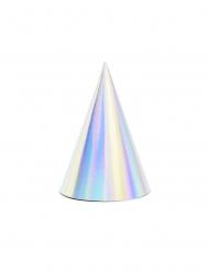 6 cappellini in cartone iridescenti
