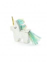 Mini pignatta unicorno bianco con frange
