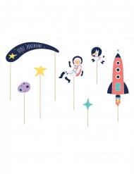7 decorazioni oer torta avventura nello spazio