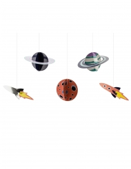 5 sospensioni in cartone avventura nello spazio