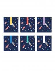 6 sacchetti regalo di carta avventura nello spazio