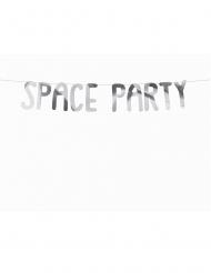 Ghirlanda in cartone argento Space Party