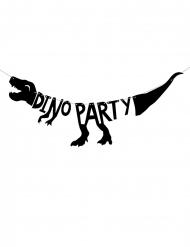 Ghirlanda in cartone nero scheletro dino party