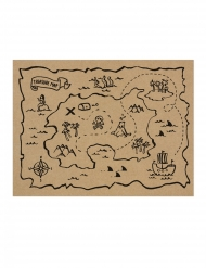 7 tovagliette in carta kraft mappa del tesoro