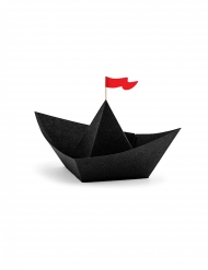 6 navi pirata in cartone nere