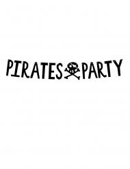 Ghirlanda in cartone nero Pirates Party