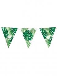 Ghirlanda di bandierine foglie tropicali verdi