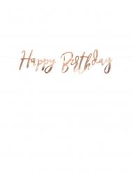 Ghirlanda oro rosa Happy Birthday