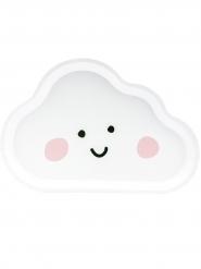 6 piatti in cartone a forma di nuvola bianca