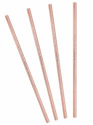 10 cannucce in cartone oro rosa