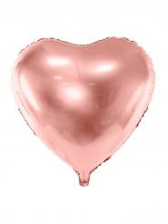 Palloncino alluminio cuore oro rosa metallizzato