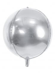 Palloncino alluminio rotondo argento metallizzato