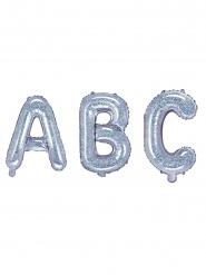 Palloncino alluminio lettera iridescente 35 cm