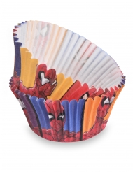 50 Pirottini da cupcakes Spiderman™ 7 cm